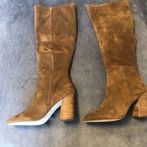 Steve Madden Knee-High Chestnut Suede Boots